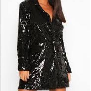 Boohoo Sequin Blazer Dress